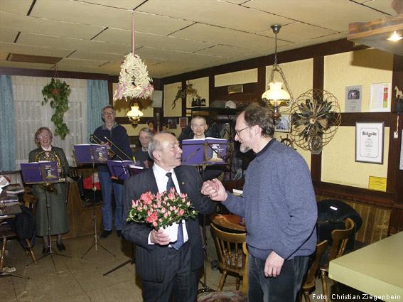 Geburtstagsständchen Ernst Suchanke 08. Februar 2005